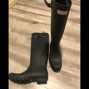 Matte Black Hunter Tall Boots